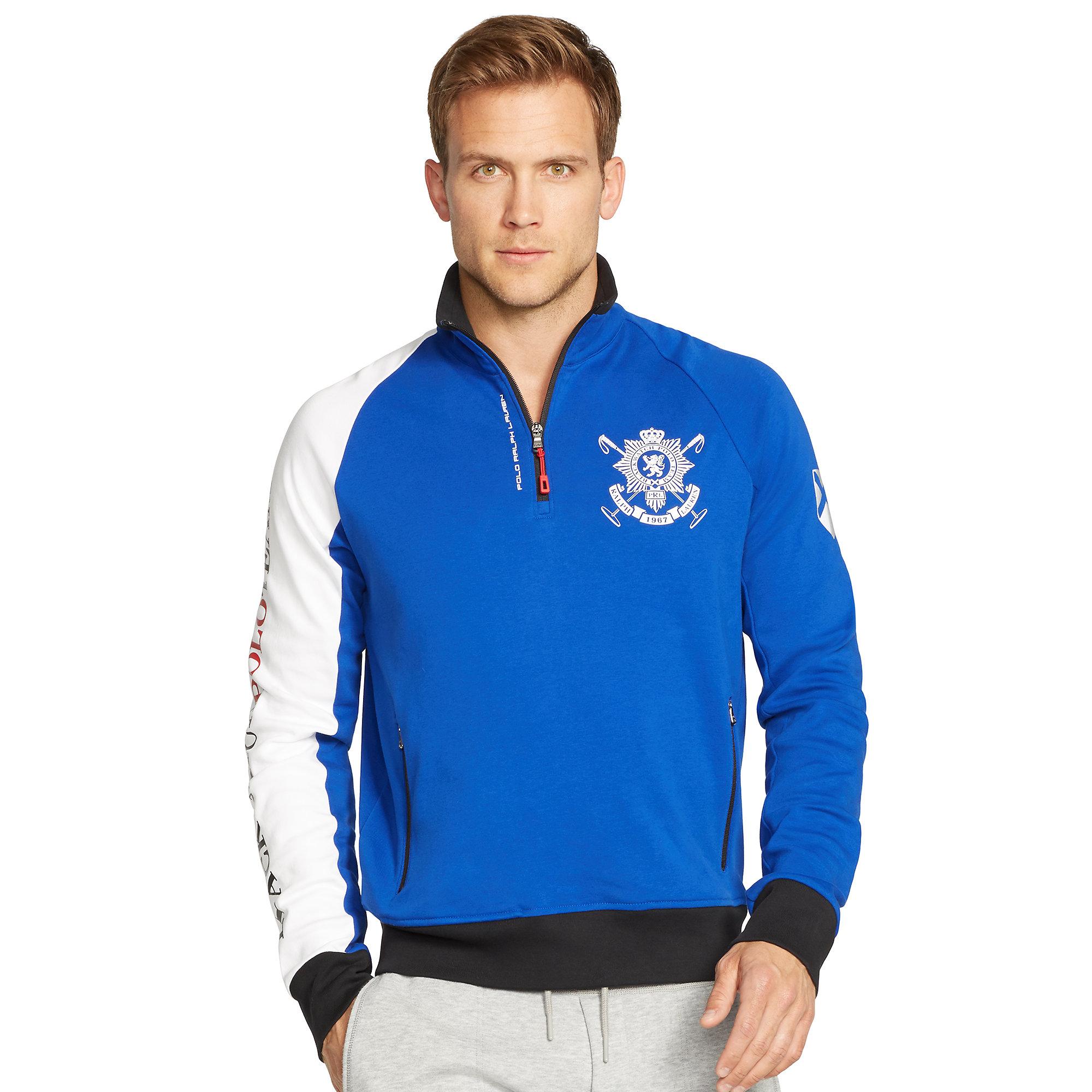 Polo ralph lauren Blackwatch Half-zip Pullover in Blue for Men | Lyst
