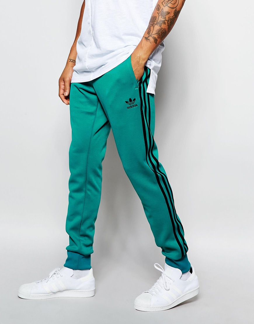 sale retailer 2e2ca 4c1c0 adidas Originals Superstar Cuffed Track Pants Aj6959 in Green for ...