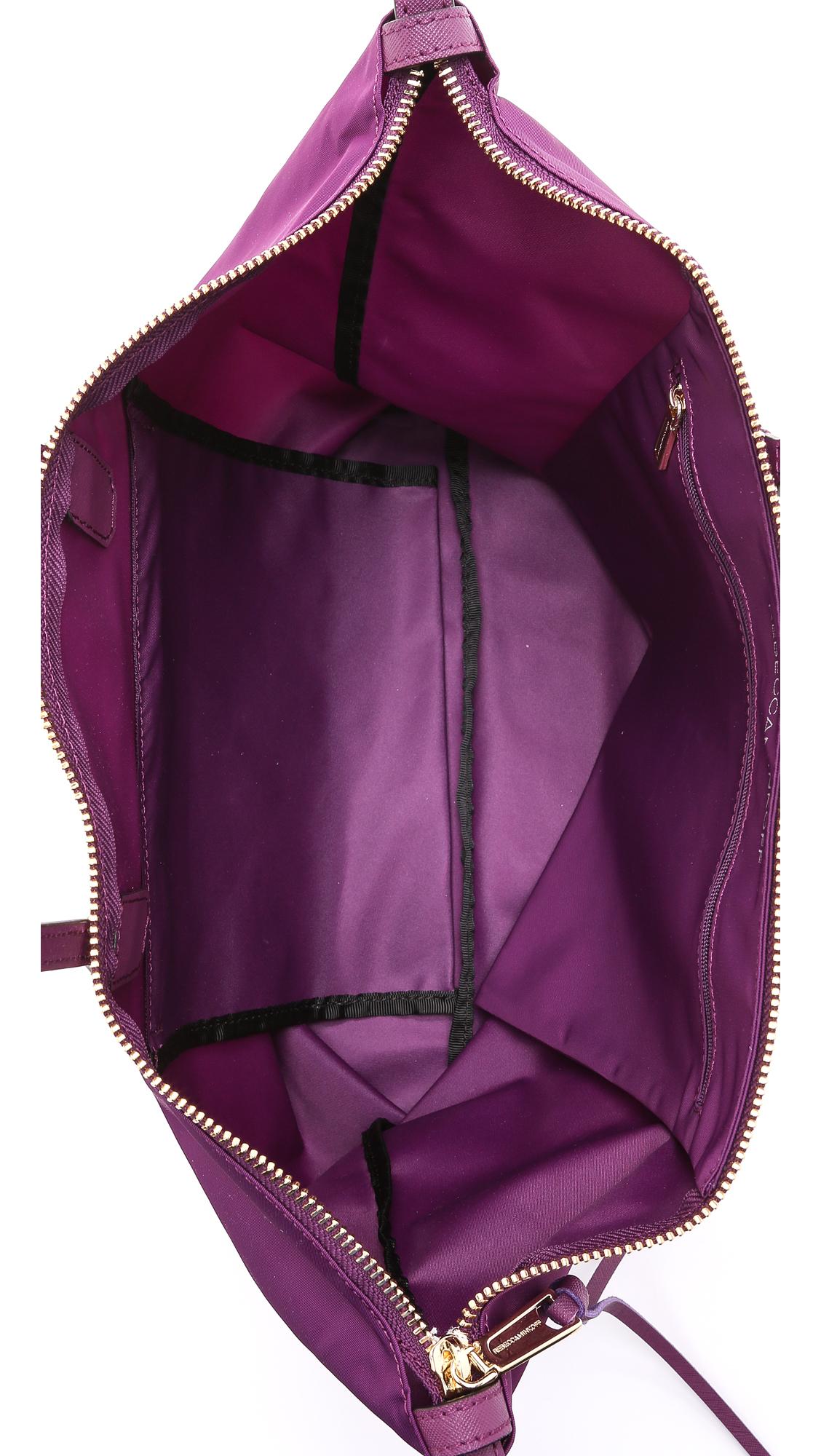 Rebecca Minkoff Nylon Mini Mab Tote - Taupe in Plum (Purple)