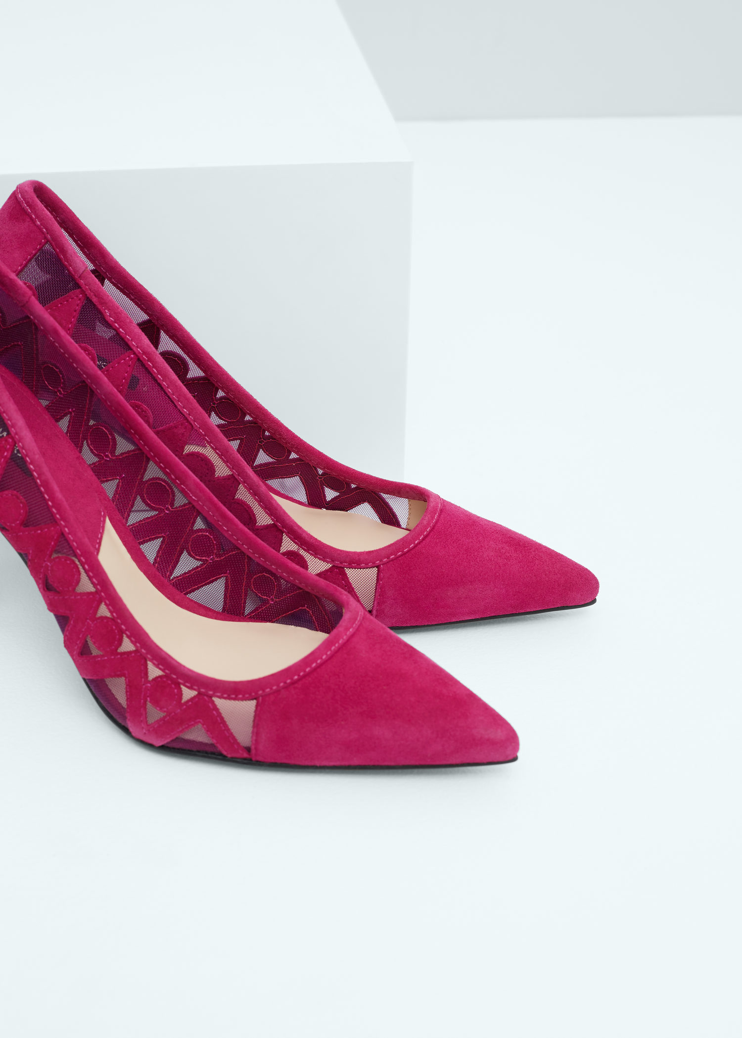 92ec433814 Lyst - Mango Leather Pumps in Pink
