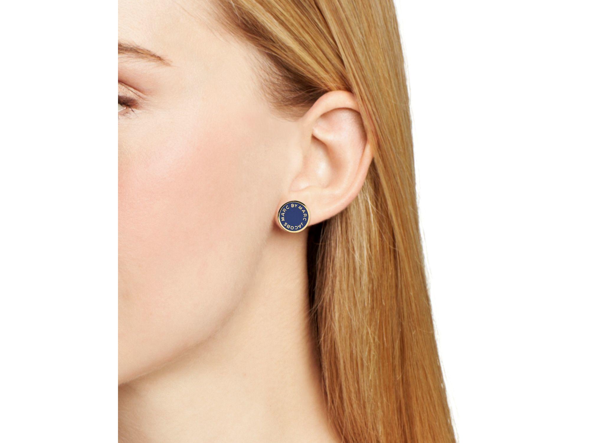 Marc Jacobs Enamel Logo Disc Stud Earrings XuLkComTD