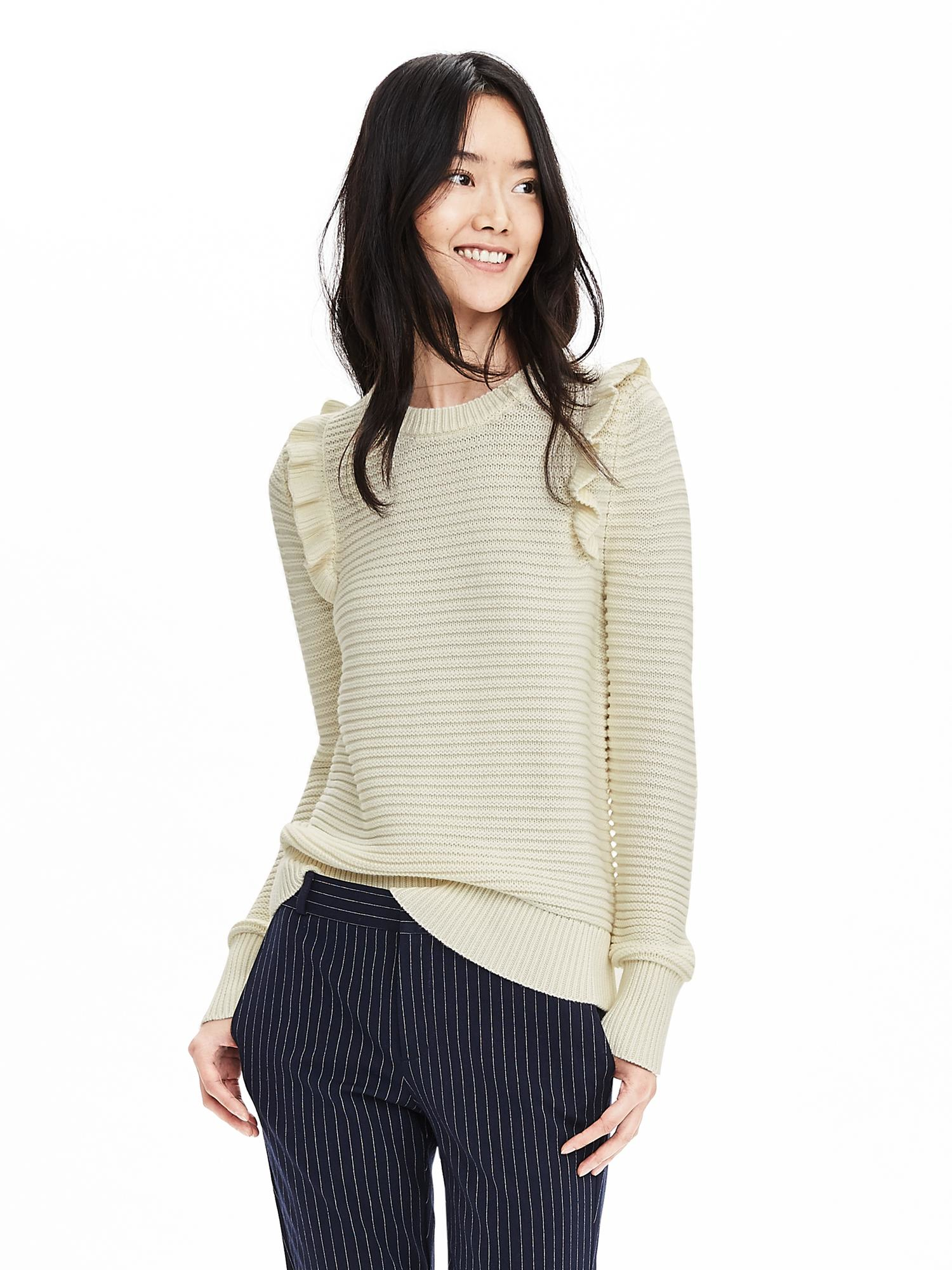 Elevate any wardrobe with women's sweaters from Banana Republic Factory. Browse an incredible selection of the latest sweaters for women and find a great fit for any individual style. Create your next great look today with stylish women's sweaters from Banana Republic Factory. Find versatile sweaters for women that will complement your unique personality.
