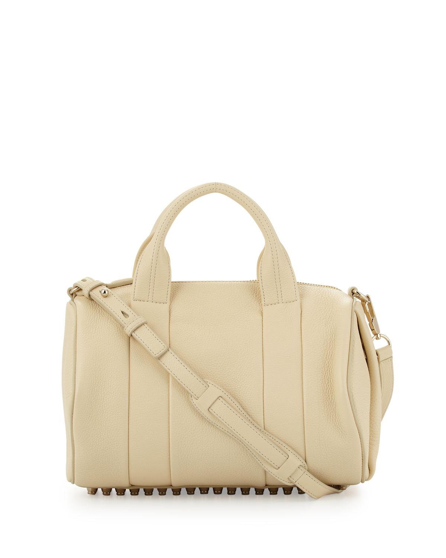 alexander wang rocco studbottom satchel bag yellow in. Black Bedroom Furniture Sets. Home Design Ideas