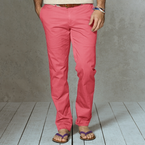 e8f57005f Polo Ralph Lauren Slim Fit Stretch Chino Pant in Red for Men - Lyst