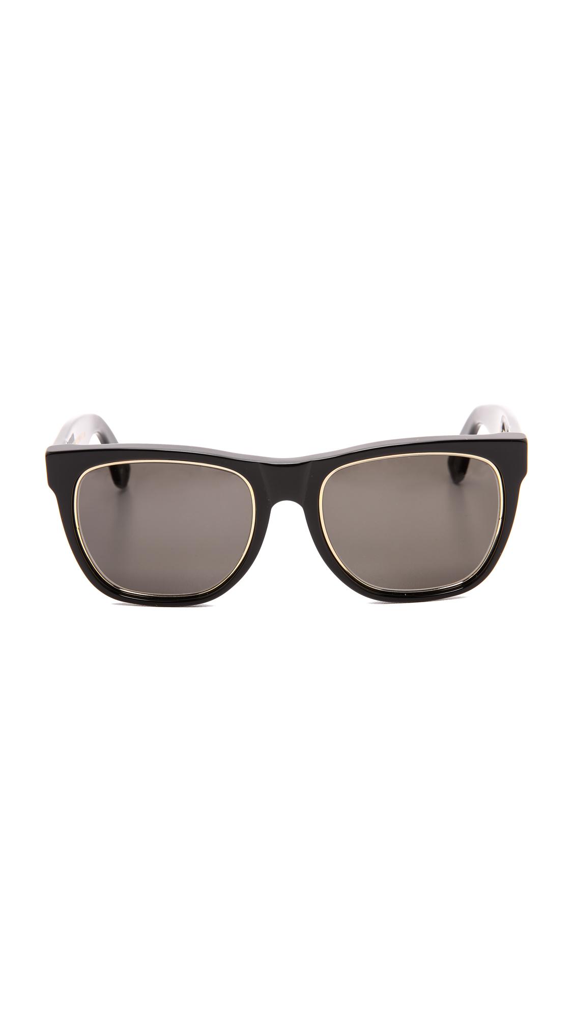 Retrosuperfuture Classic Impero Sunglassess in Black