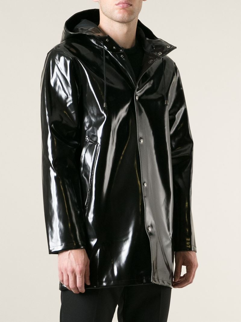 lyst stutterheim stockholm opal raincoat in black for men