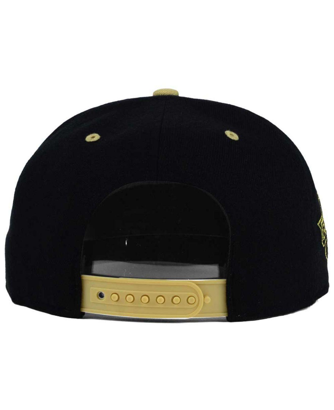 dd909c229c0 ... get lyst 47 brand pittsburgh penguins gold rush snapback cap in black  43a21 5e340