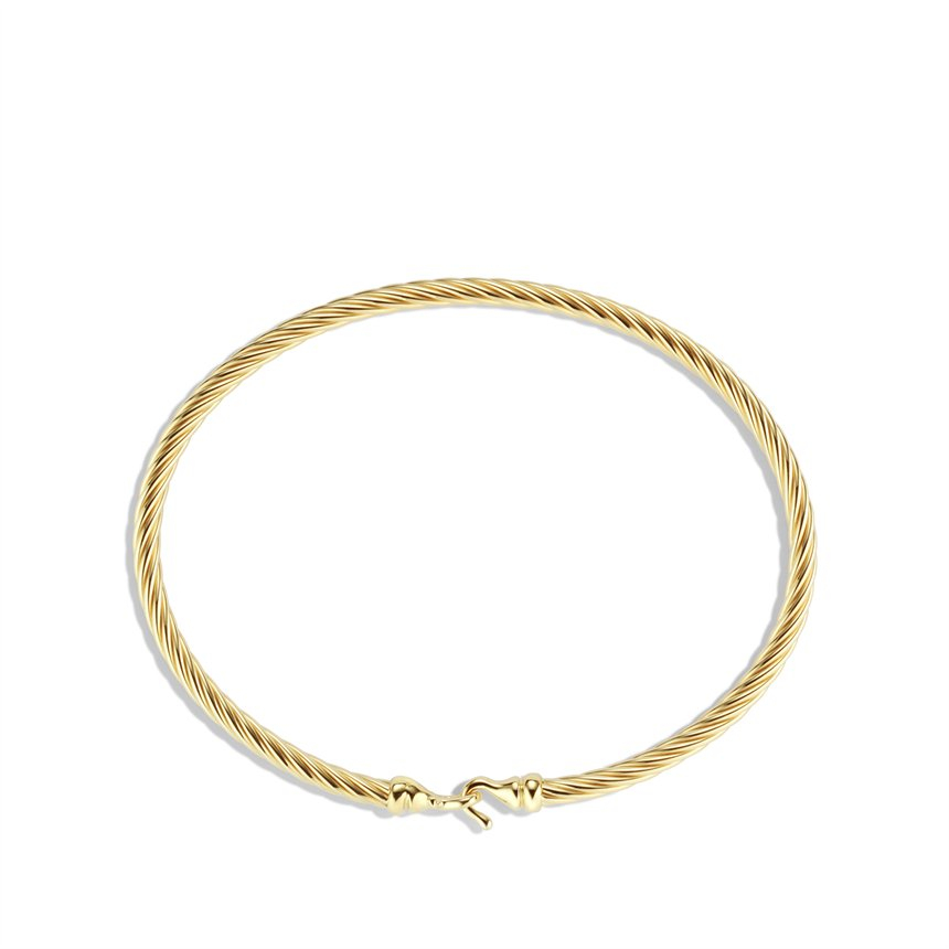 david yurman cable buckle bracelet in gold in gold lyst