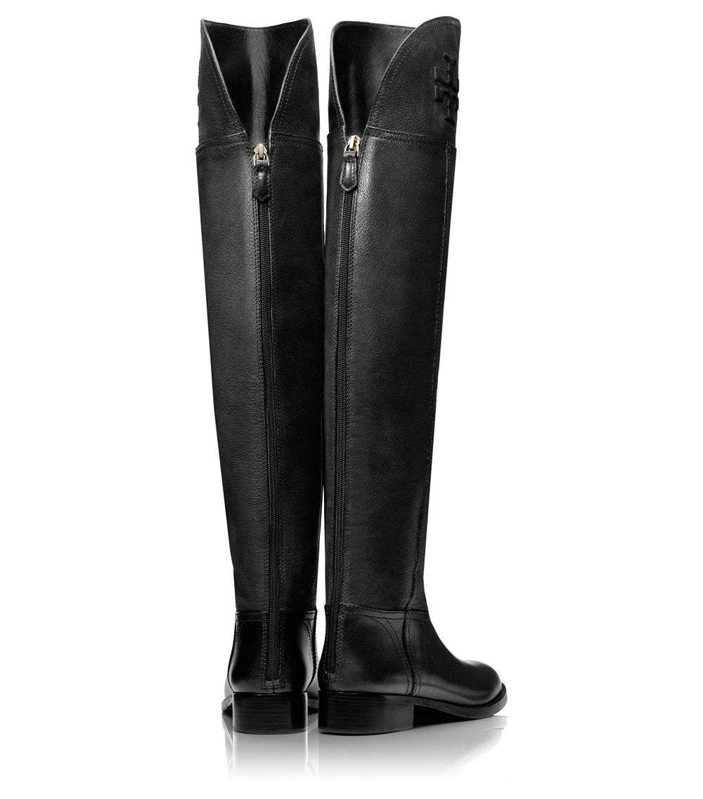 81657ca786b Lyst - Tory Burch Simone Over-The-Knee Boot in Black