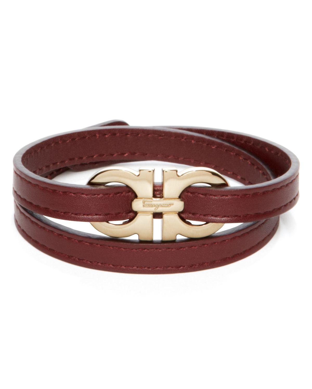 Double Wrap Gancini Bracelet