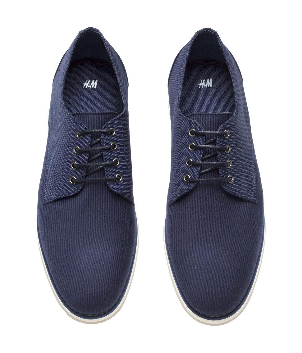 lyst h m derby shoes in blue for men. Black Bedroom Furniture Sets. Home Design Ideas