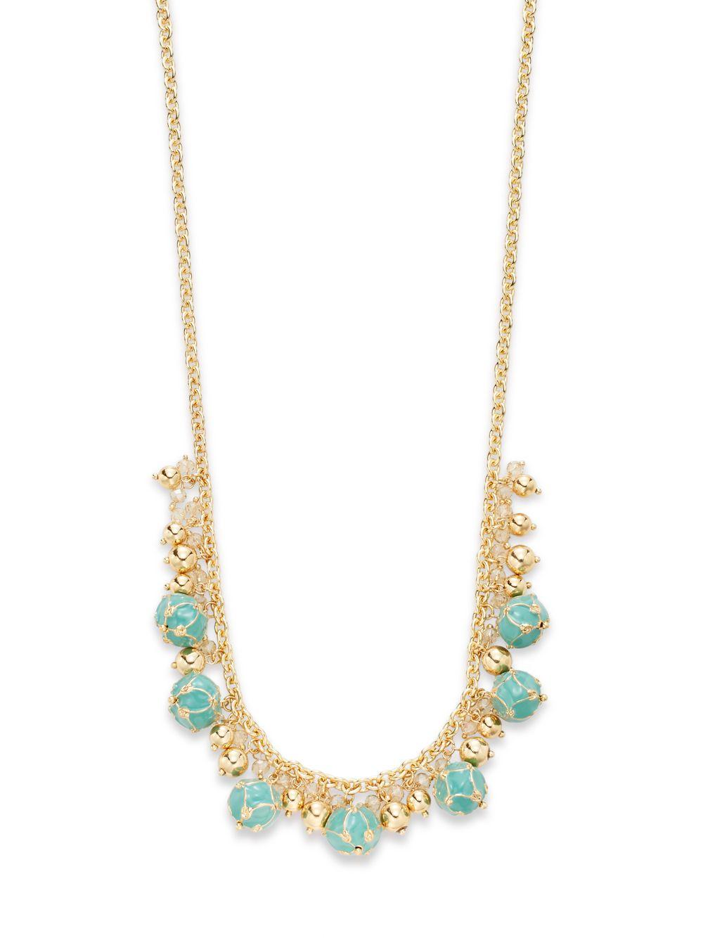 Saks fifth avenue Enameled Shaky Bead Necklace/Turquoise ...