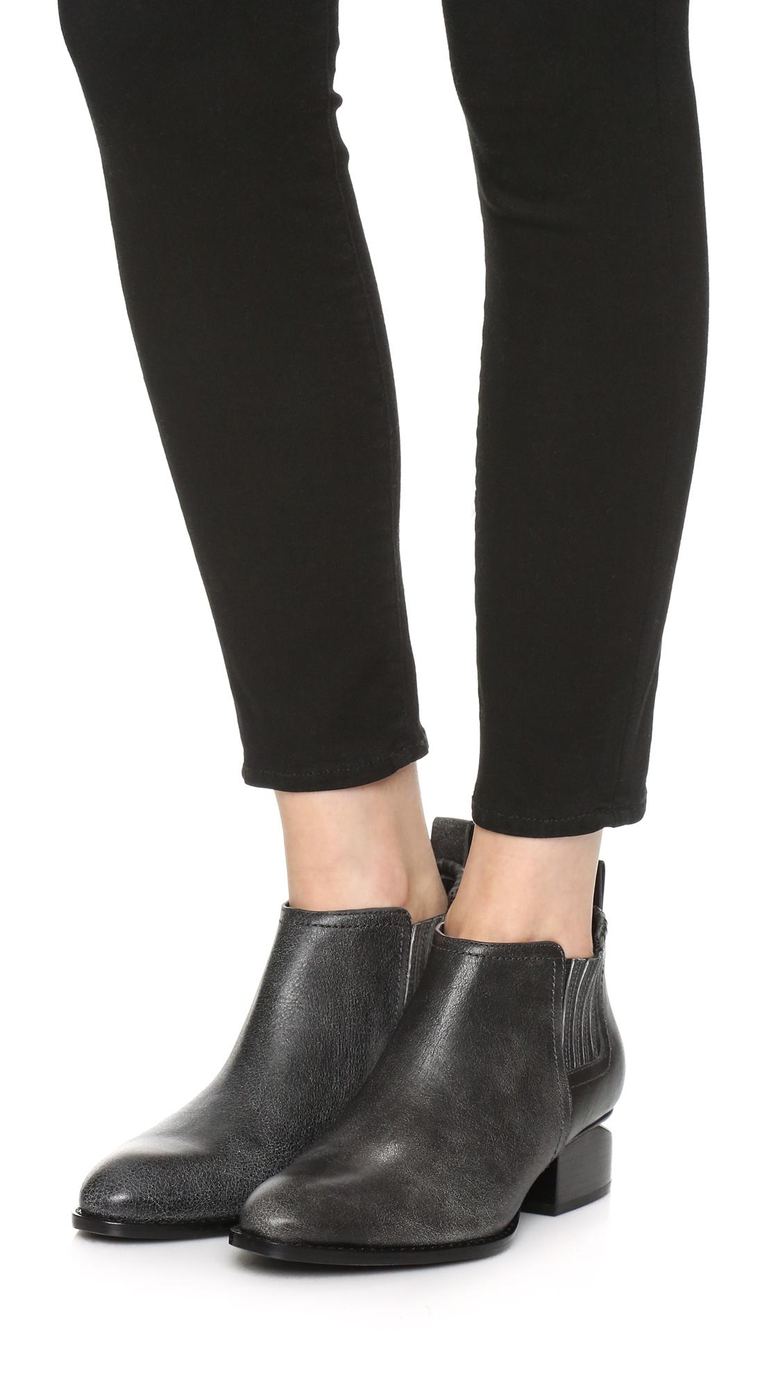 lyst alexander wang kori ankle booties in black. Black Bedroom Furniture Sets. Home Design Ideas