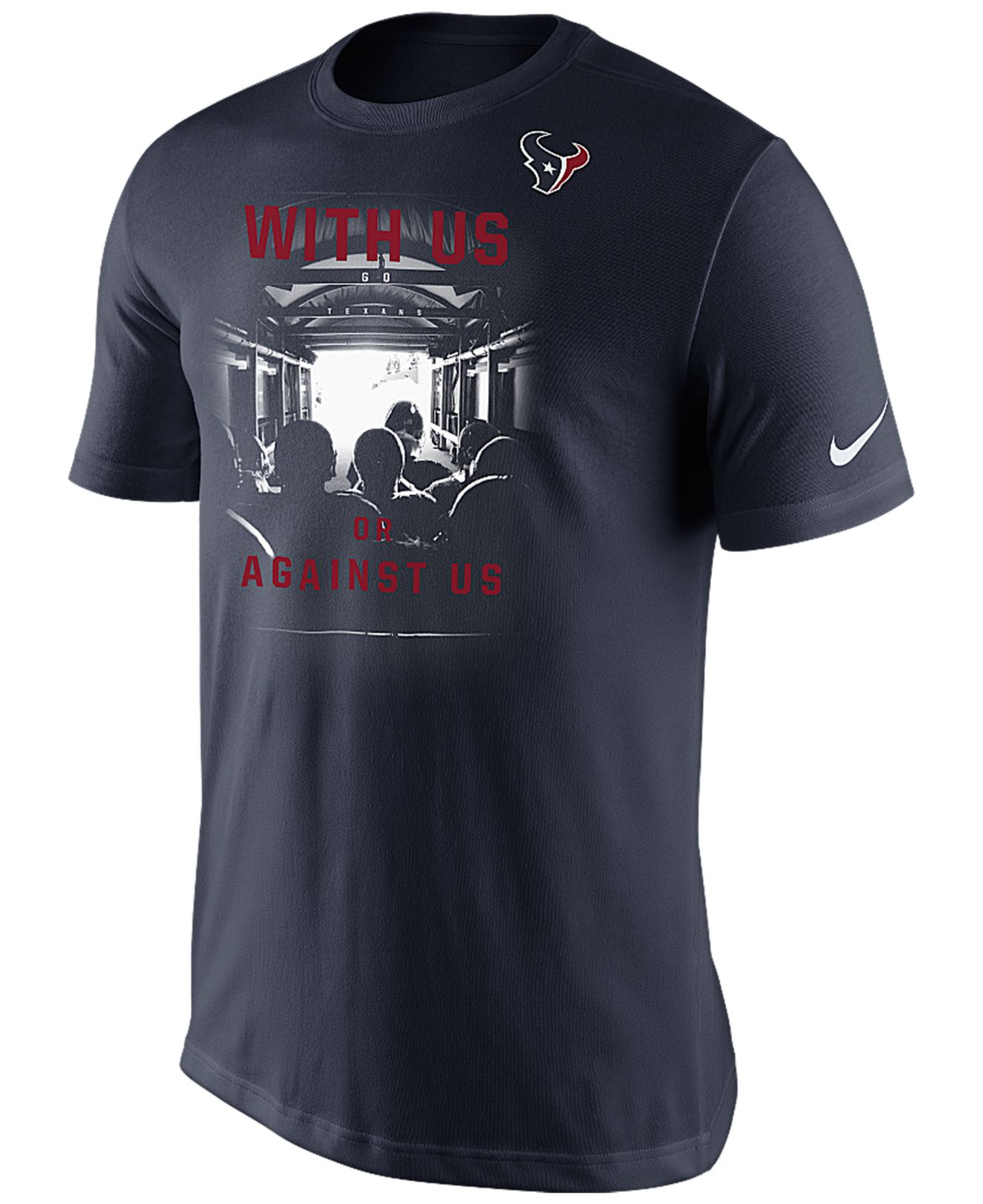 Nike men 39 s short sleeve houston texans with us t shirt in for Cheap t shirt printing houston