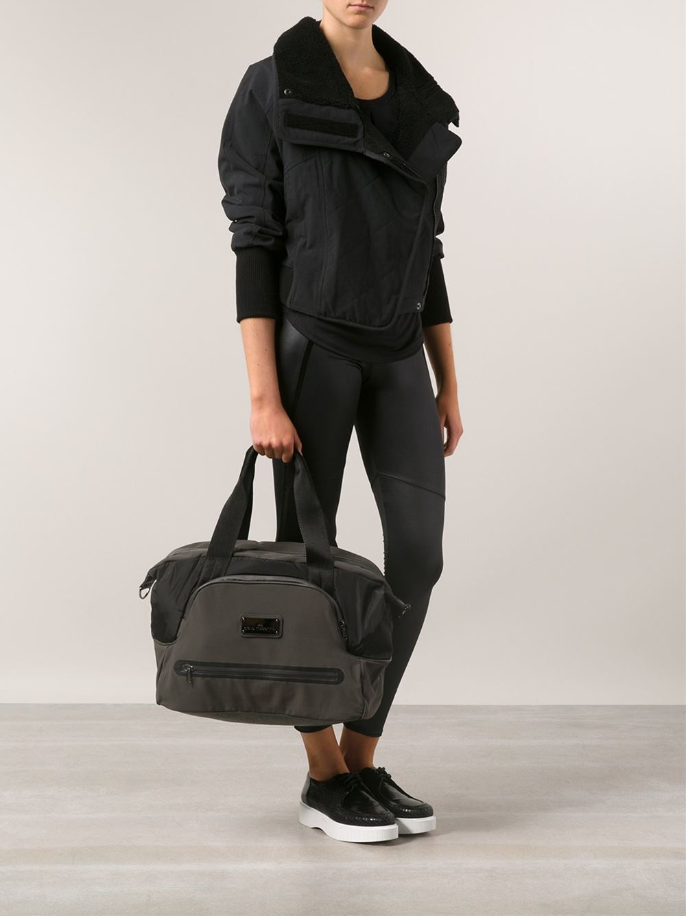 Lyst - adidas By Stella McCartney Iconic Small Tote in Black 45a529f3b3a24
