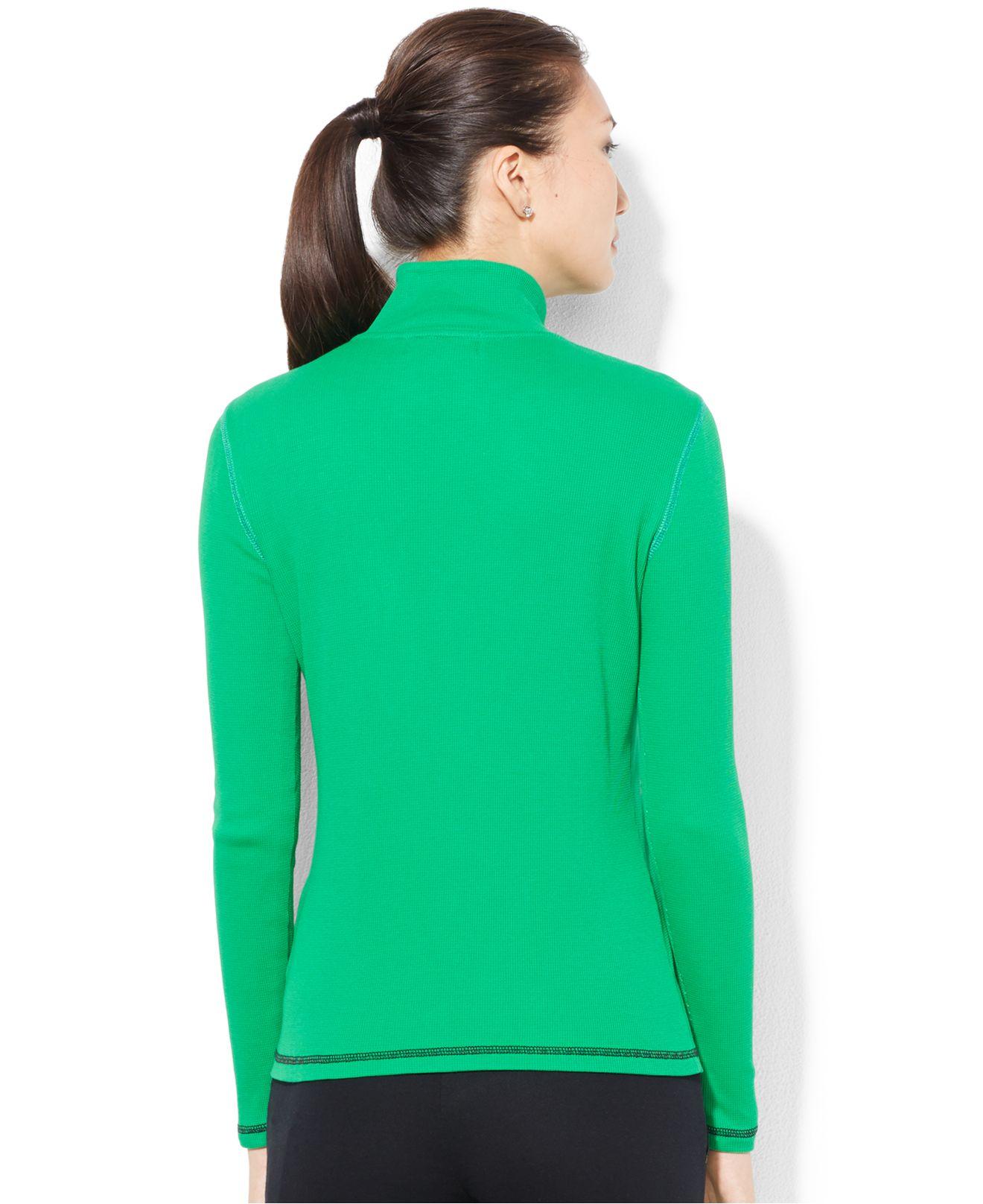 Lauren By Ralph Lauren Mock Turtleneck Half Zip Pullover