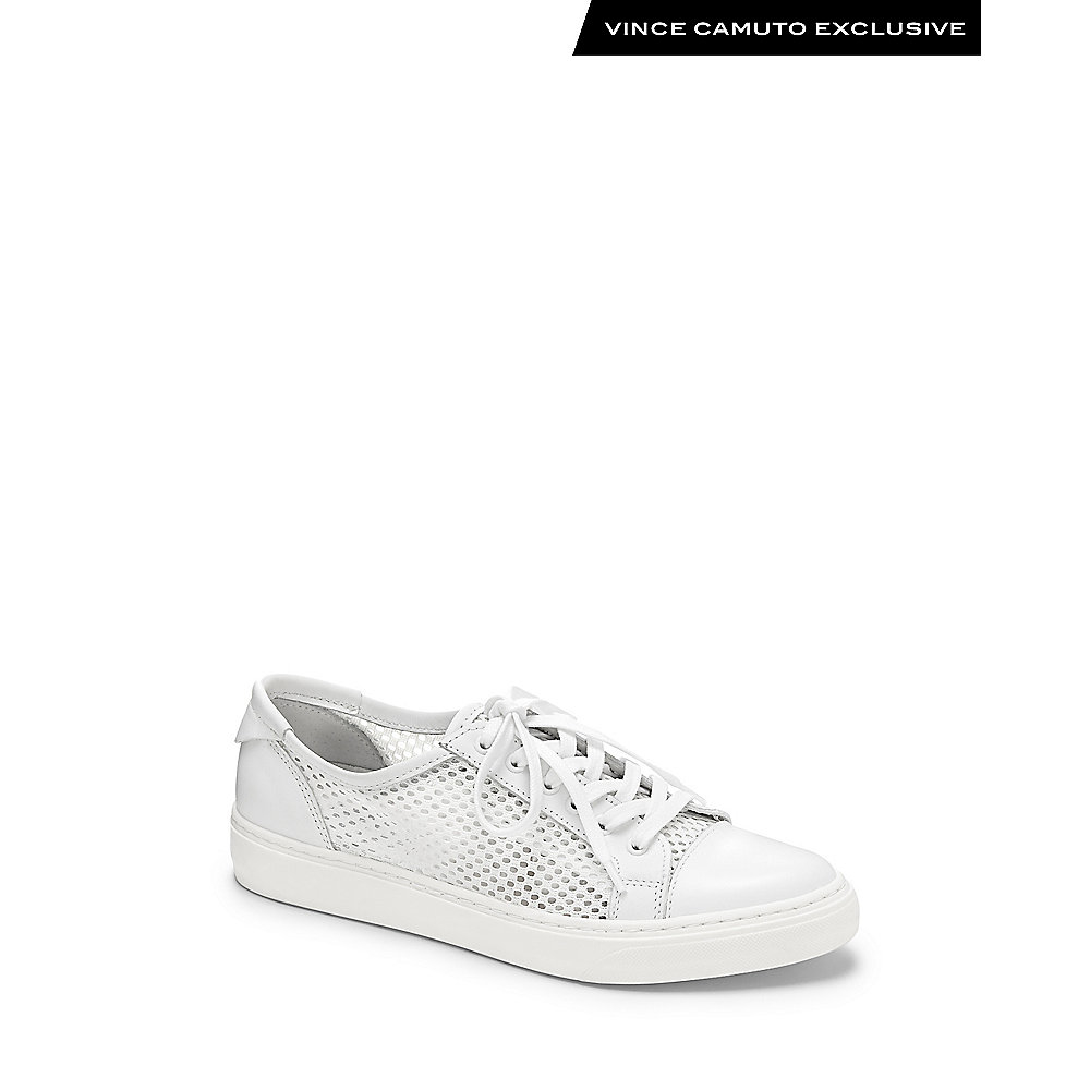 bca53b0a7cf Lyst - Vince Camuto Punchy- Mesh Lace Up Sneaker in White