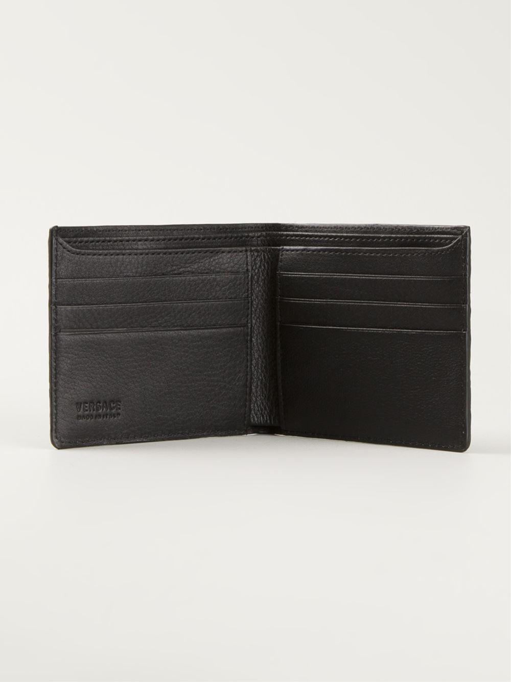 Versace Embossed Wallet In Black For Men Lyst