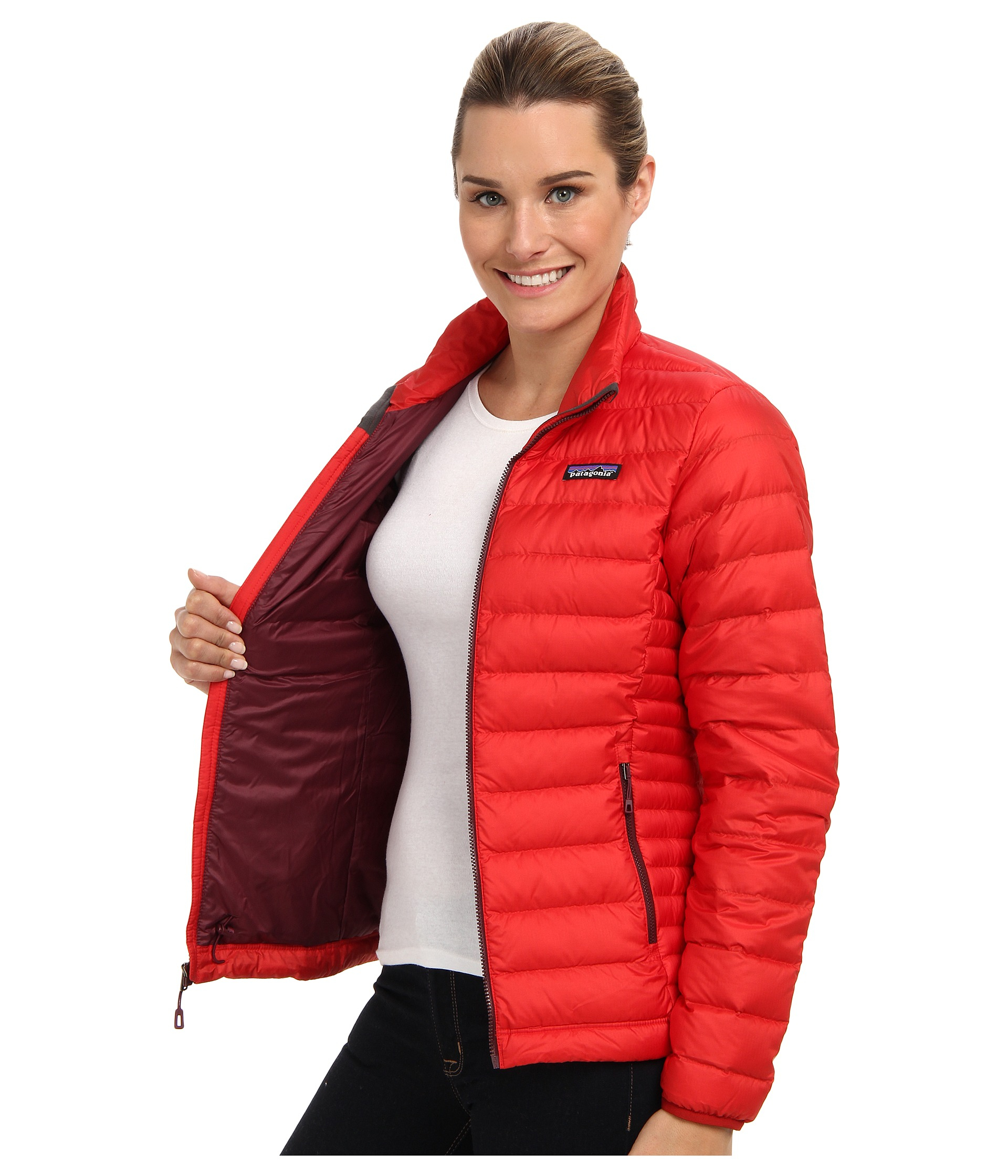 da1fa5b4d Women's Red Down Sweater Jacket