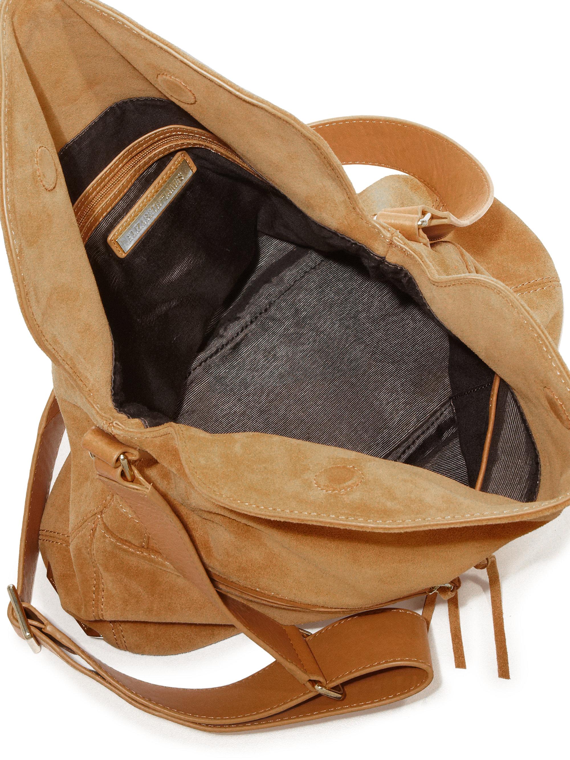 fd9703f93f83 Lyst - Elizabeth and James James Suede Crossbody Hobo Bag in Brown
