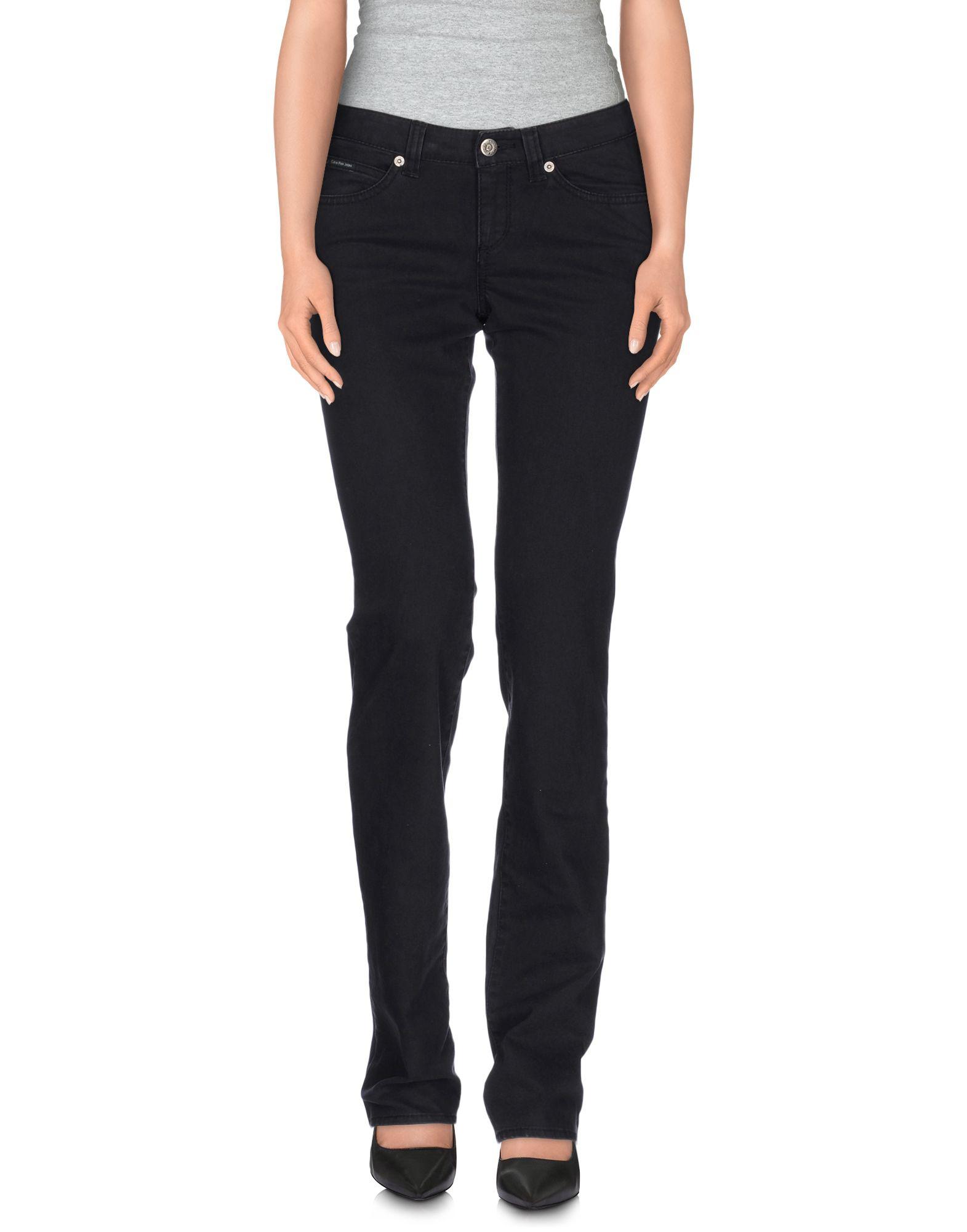 Lyst calvin klein jeans denim trousers in black for Calvin klein jardin collection