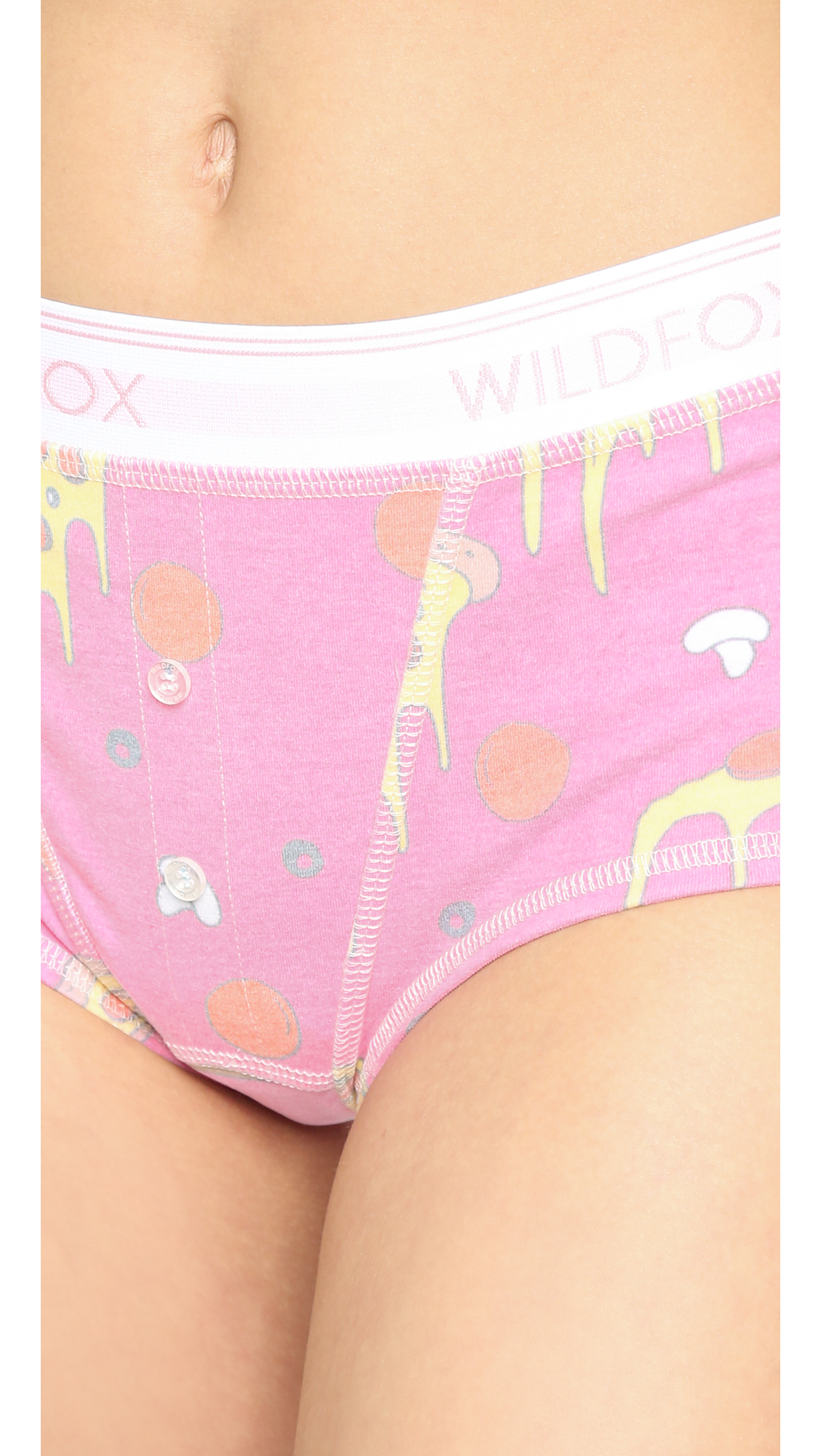 lyst - wildfox extra cheese tomboy panties - multi in purple
