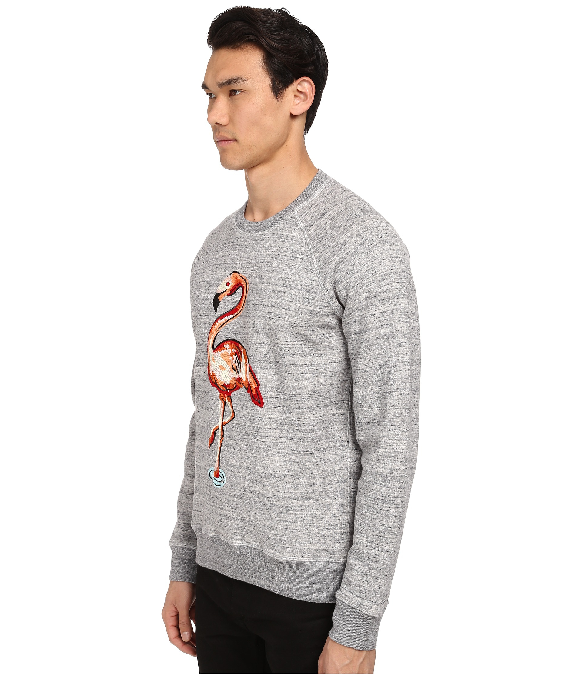 Marc jacobs Flamingo Embroidered Swirly Sweatshirt in Gray ...