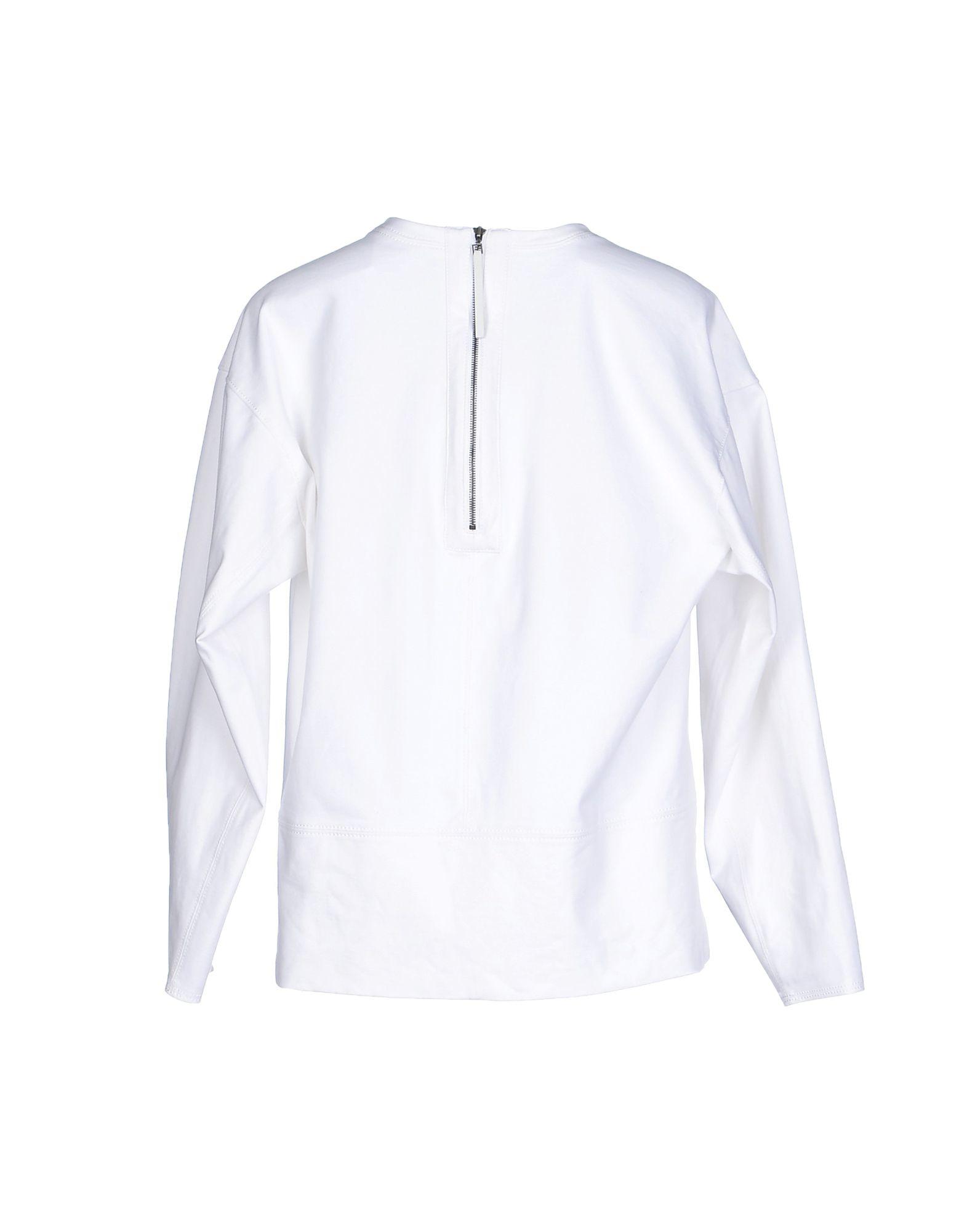 Helmut lang t shirt in white lyst for Helmut lang t shirt