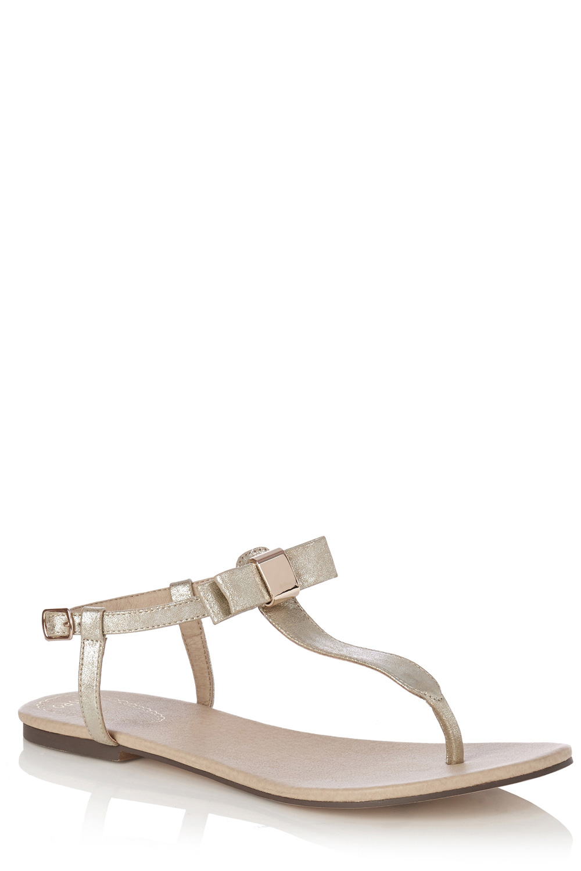 8fb137f1da69a7 Oasis Bow Toe Post Sandal in Metallic - Lyst