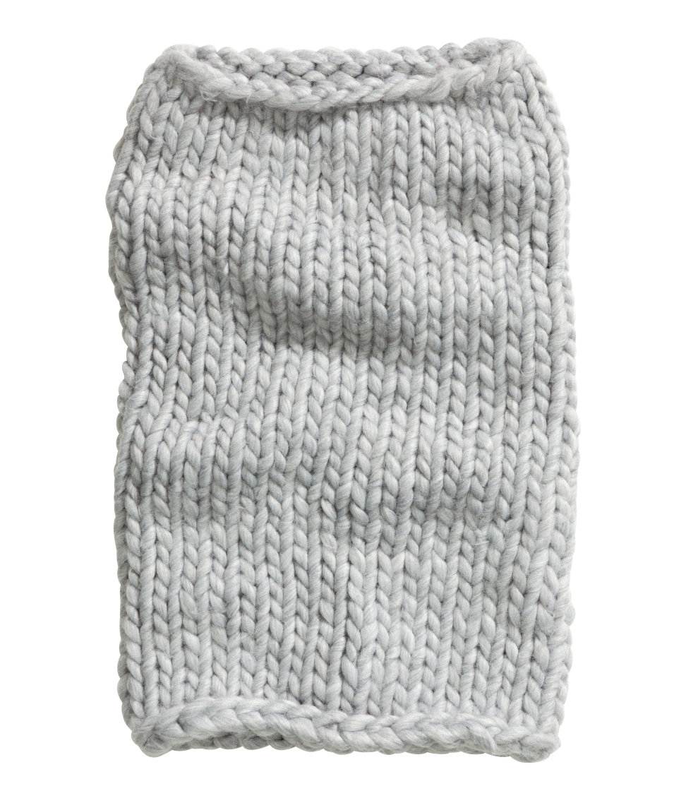 Lyst - H&M Chunky-Knit Tube Scarf in Gray