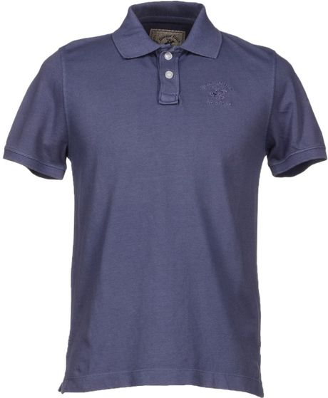 Beverly Hills Polo Club Polo Shirt in Purple for Men | Lyst