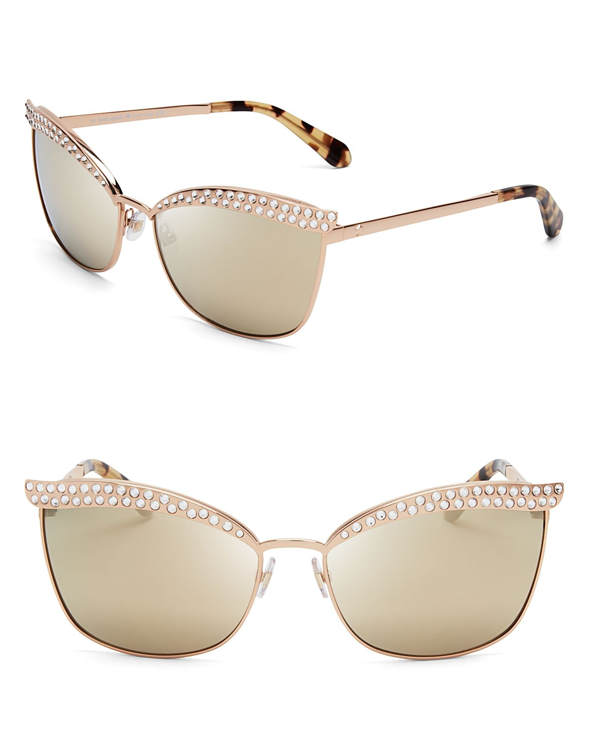 Kate spade new york leandra mirrored cat eye sunglasses in for Mirror spades