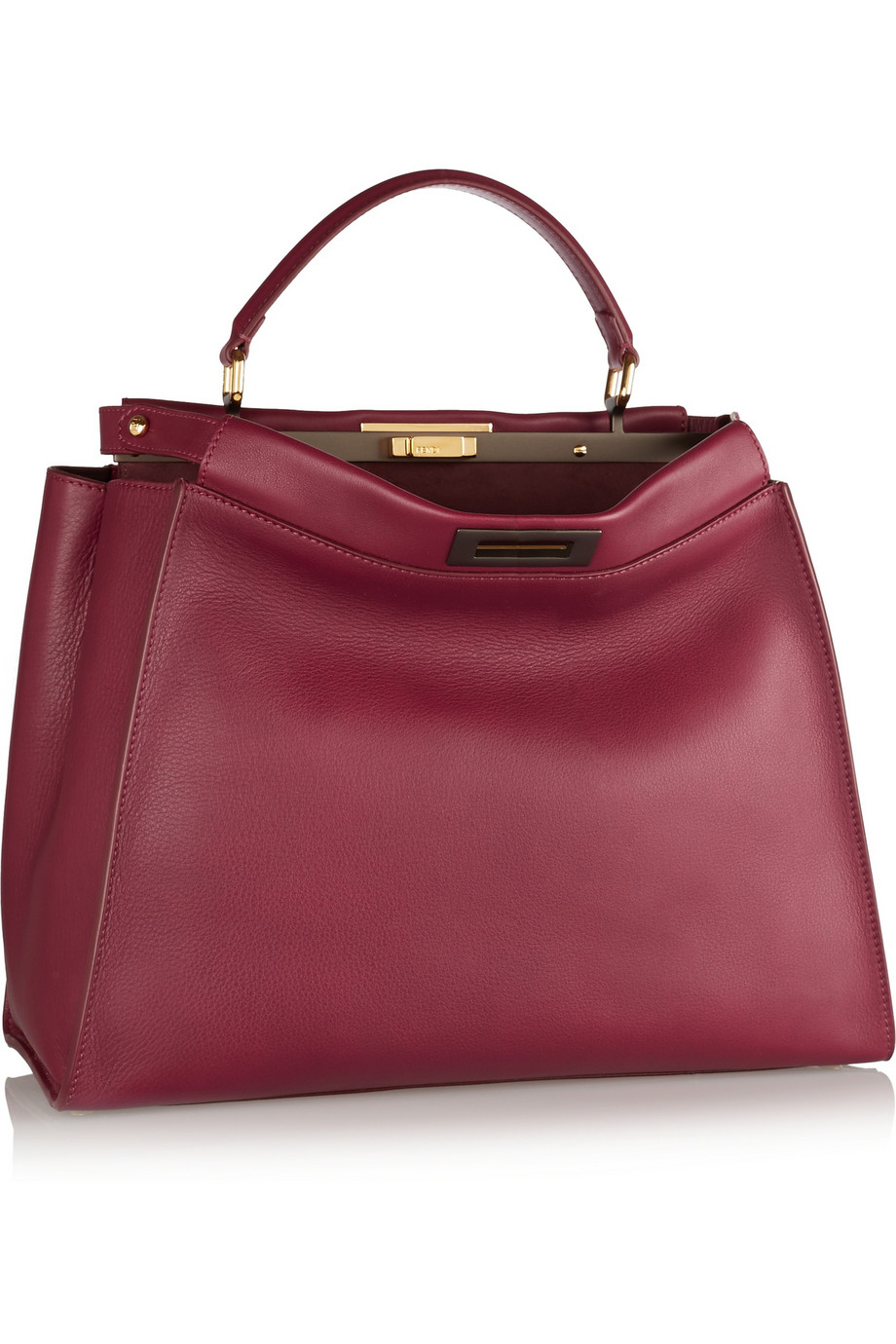 Lyst Fendi Peekaboo Medium Leather Tote In Red