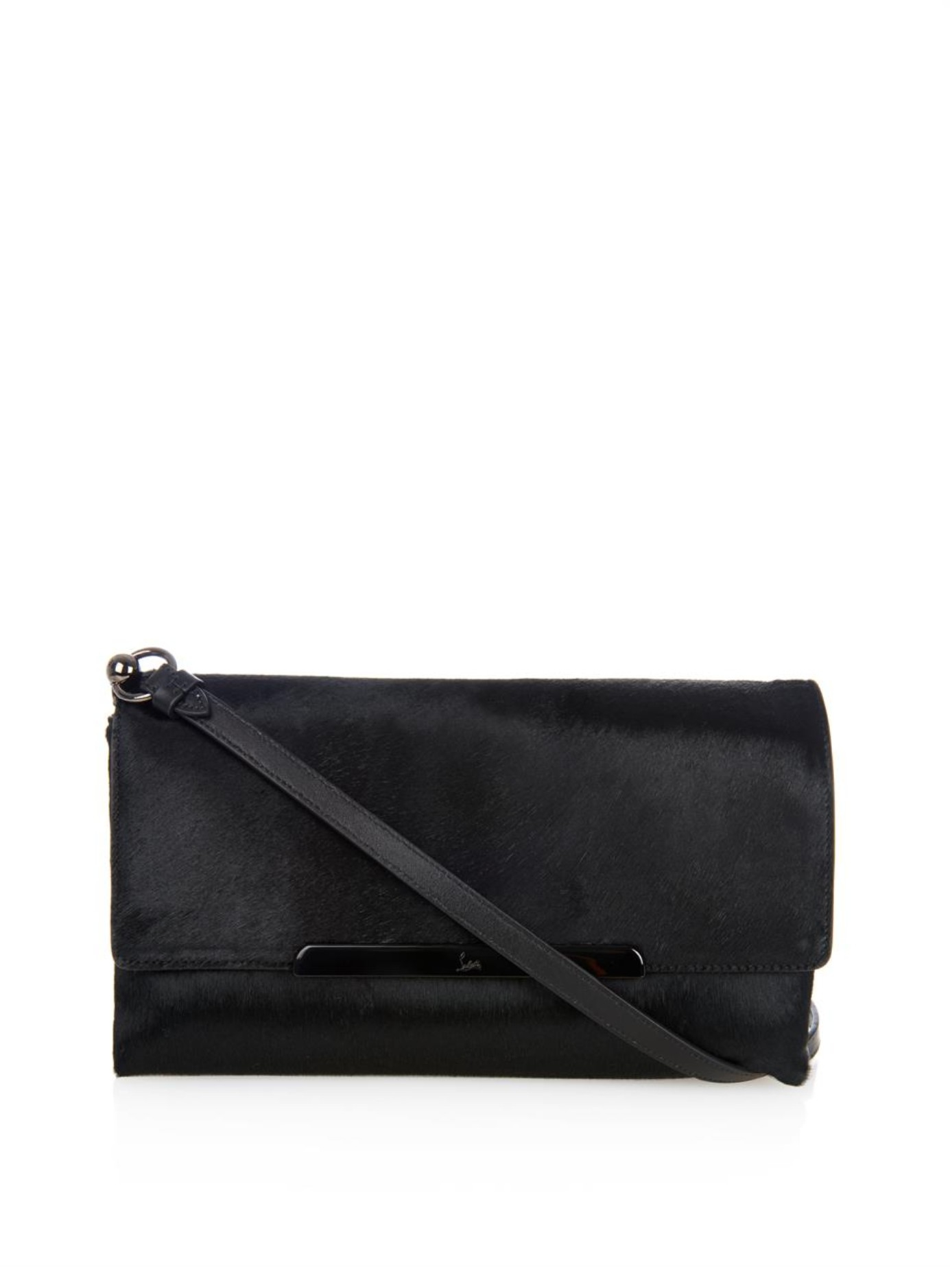673557c96f2 Christian Louboutin Black Rougissime Calf-Hair Cross-Body Bag
