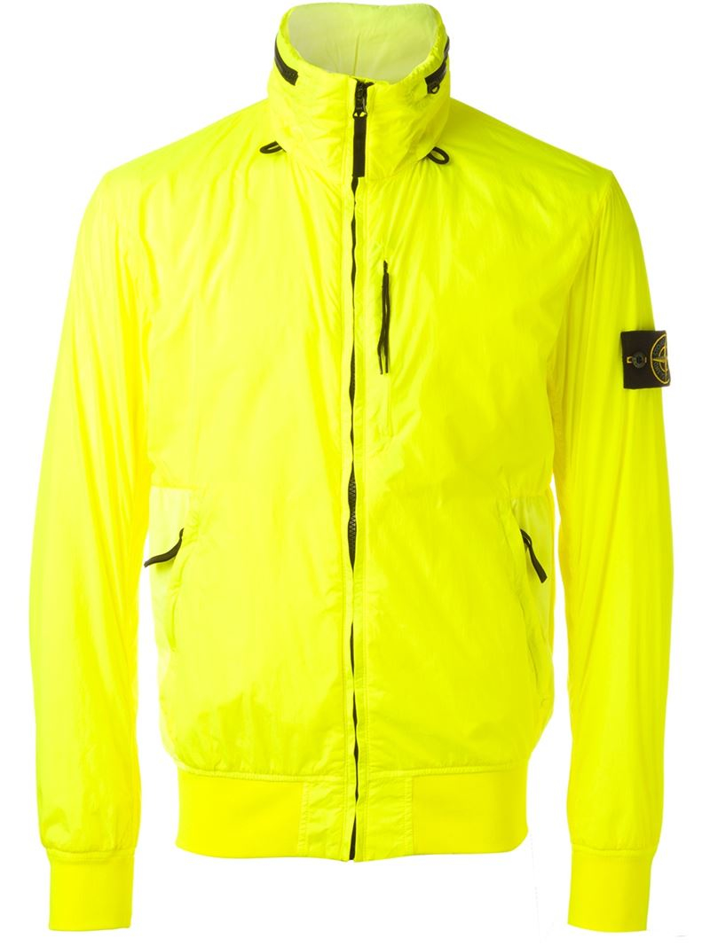 stone island windbreaker jacket in yellow for men lyst. Black Bedroom Furniture Sets. Home Design Ideas