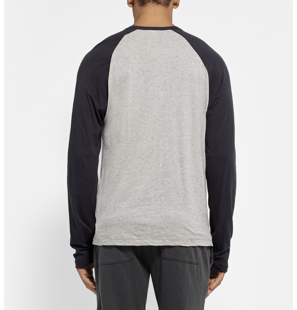 Lyst james perse raglan sleeved cotton and cashmere for James perse henley shirt