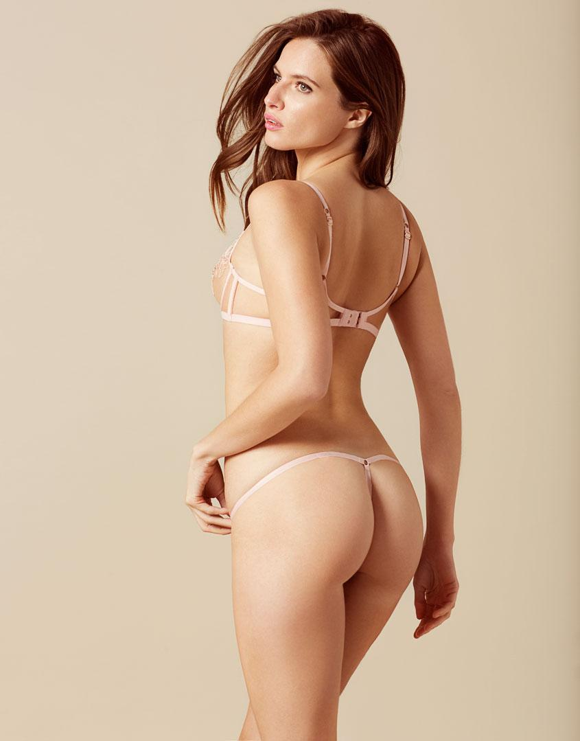 Lyst - Agent Provocateur Lindie Thong Pink And Peach in Pink a2b3e2ea6