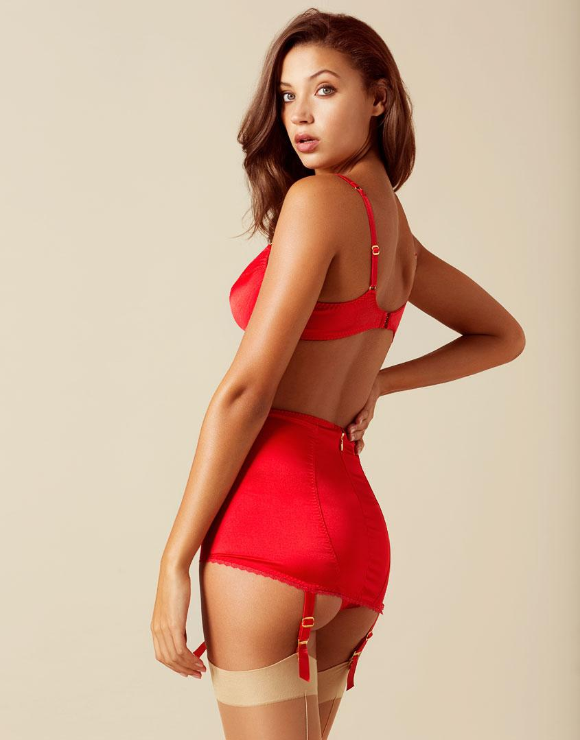 Lyst - Agent Provocateur Felinda Fifties Style Suspender Red in Red 5193e1e07