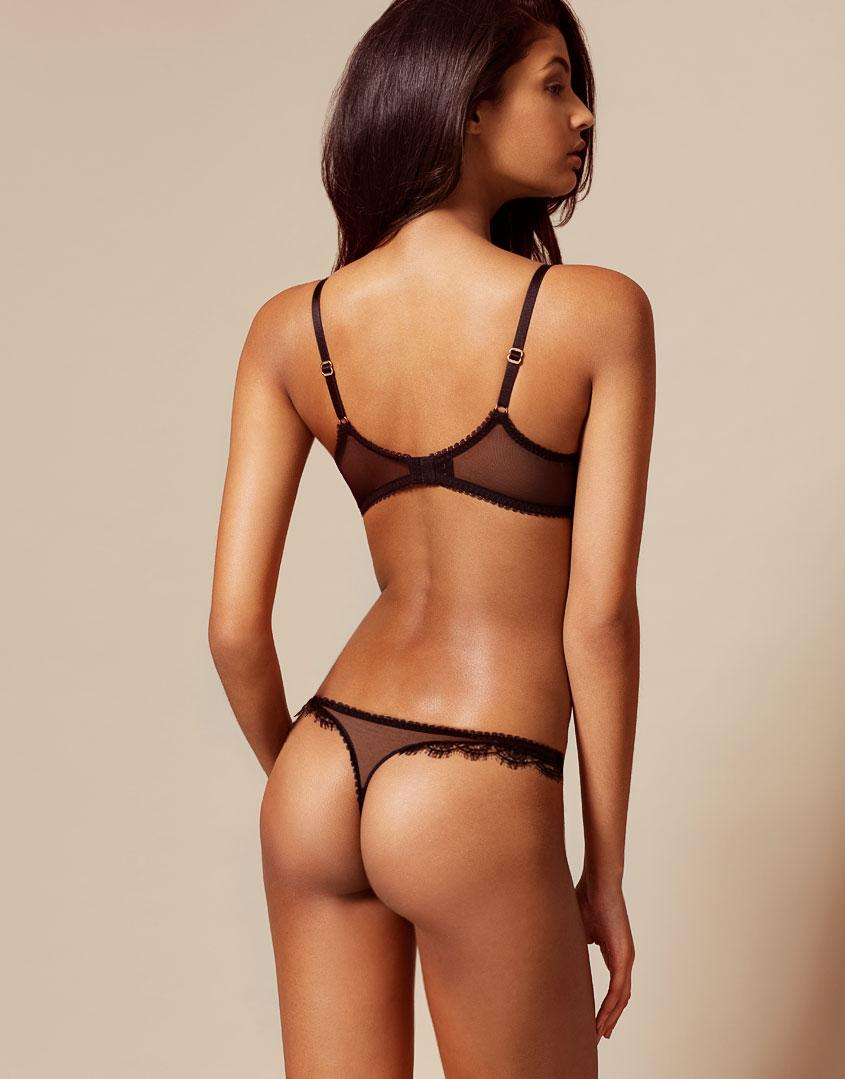 9f742213c5 Agent Provocateur Saffi Thong Black And Nude in Black - Lyst
