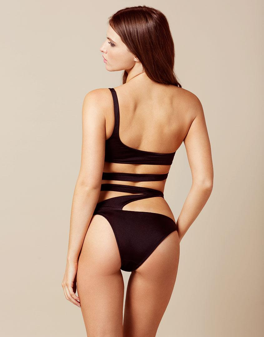 561ce9627a Lyst - Agent Provocateur Lexxi Bikini Bottom Black in Black - Save 18%