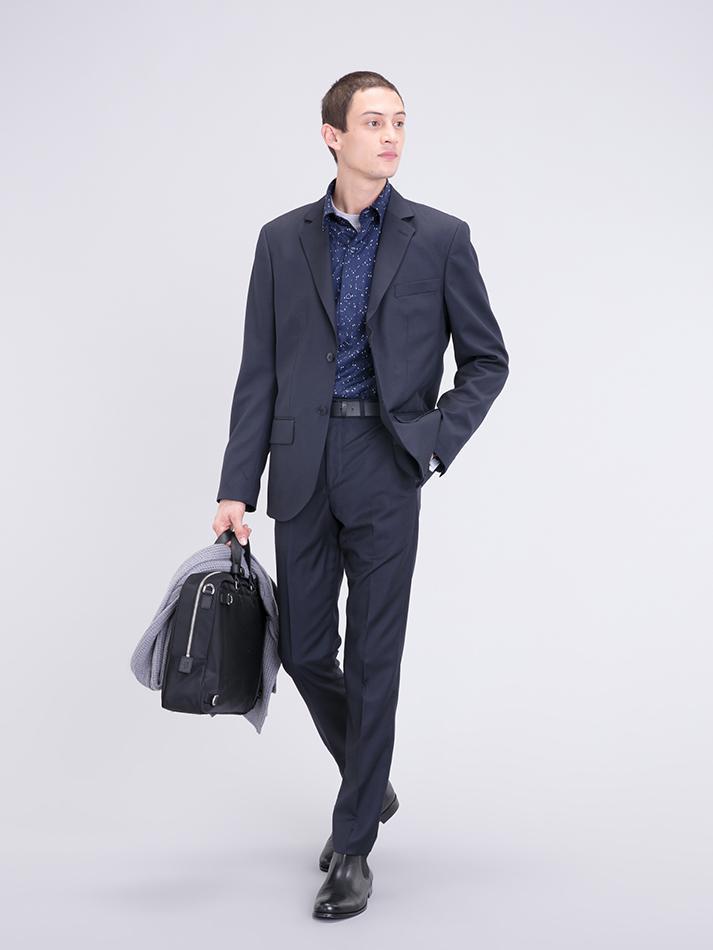 agnès b. Denim Thin Striped Domino Jacket in Blue for Men
