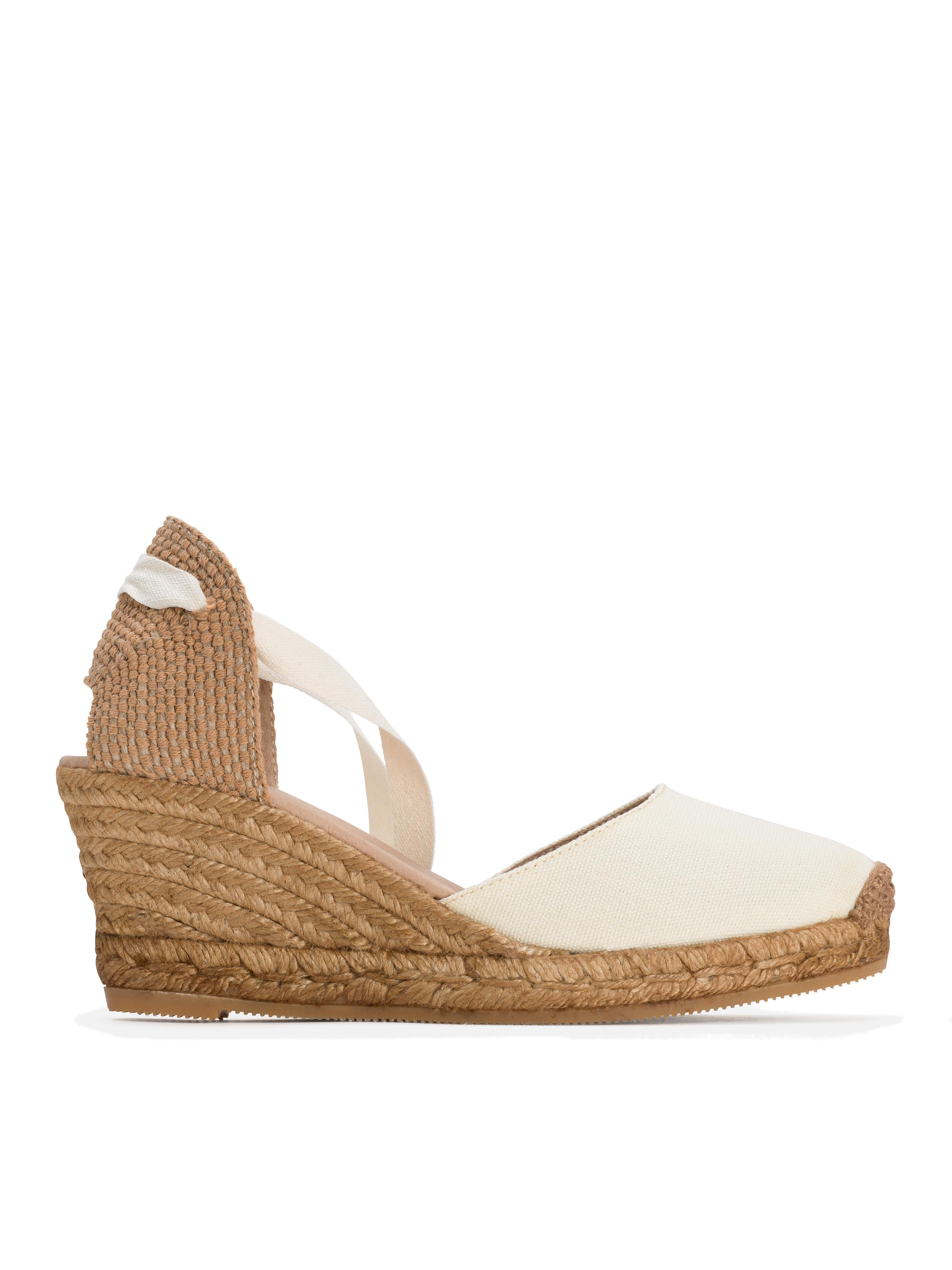 b1257bc1988 Lyst - agnès b. Beige Penelope Wedge Espadrille Shoes in Natural