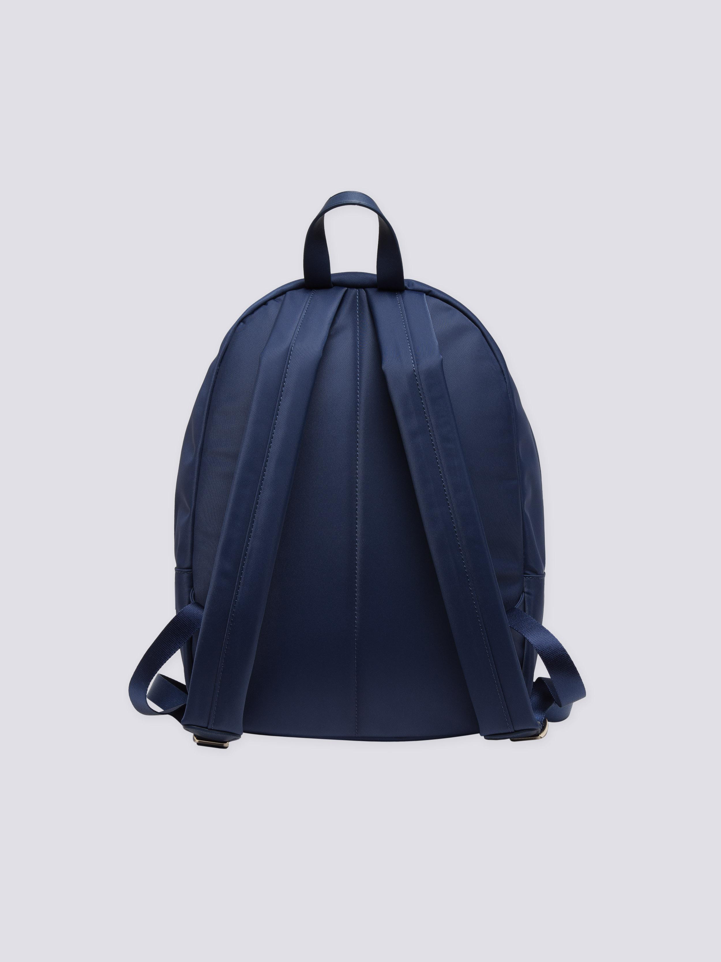 agnès b. Canvas Navy Blue Nylon And Leather Backpack