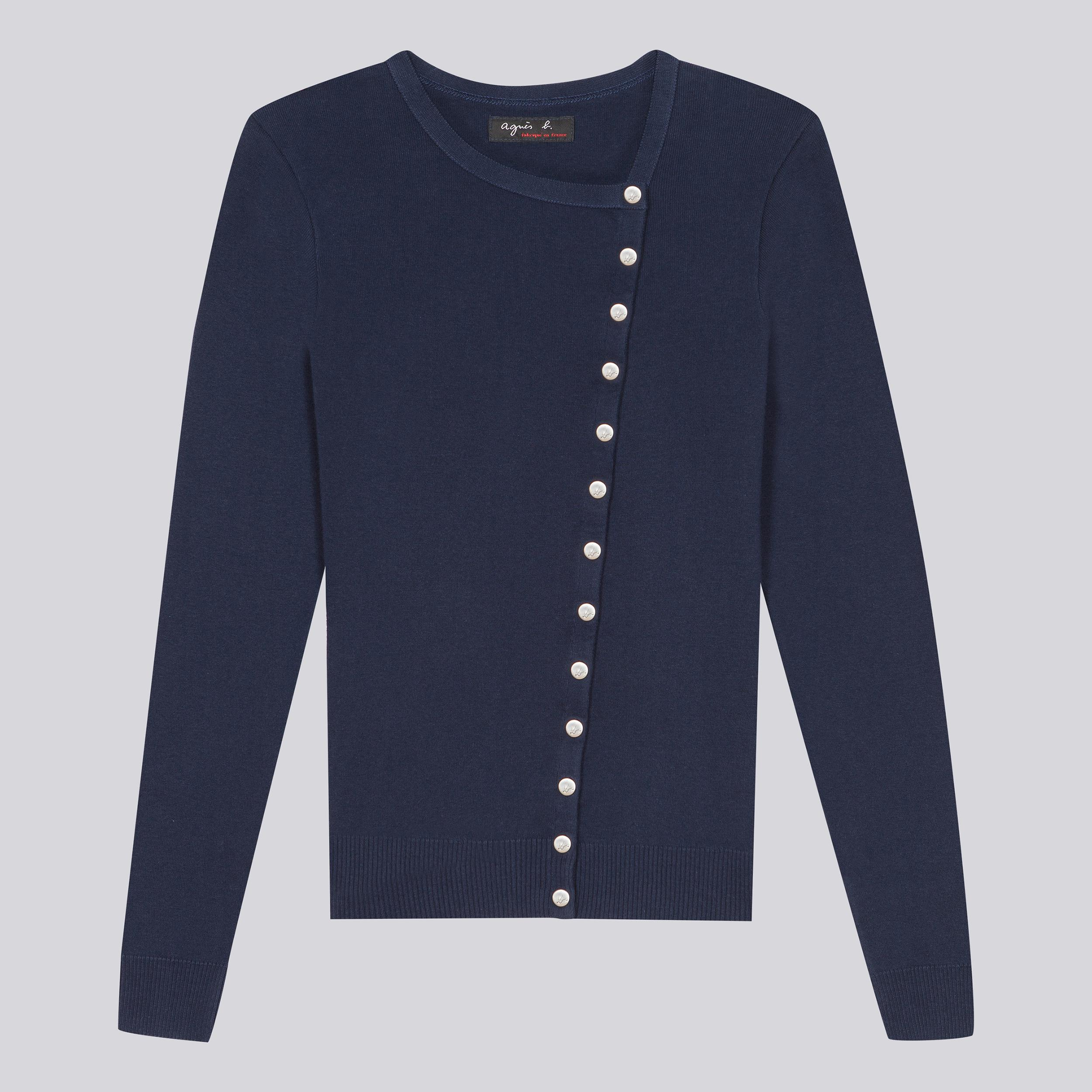 Agnes b. Navy Cardigan Perfect in Black | Lyst