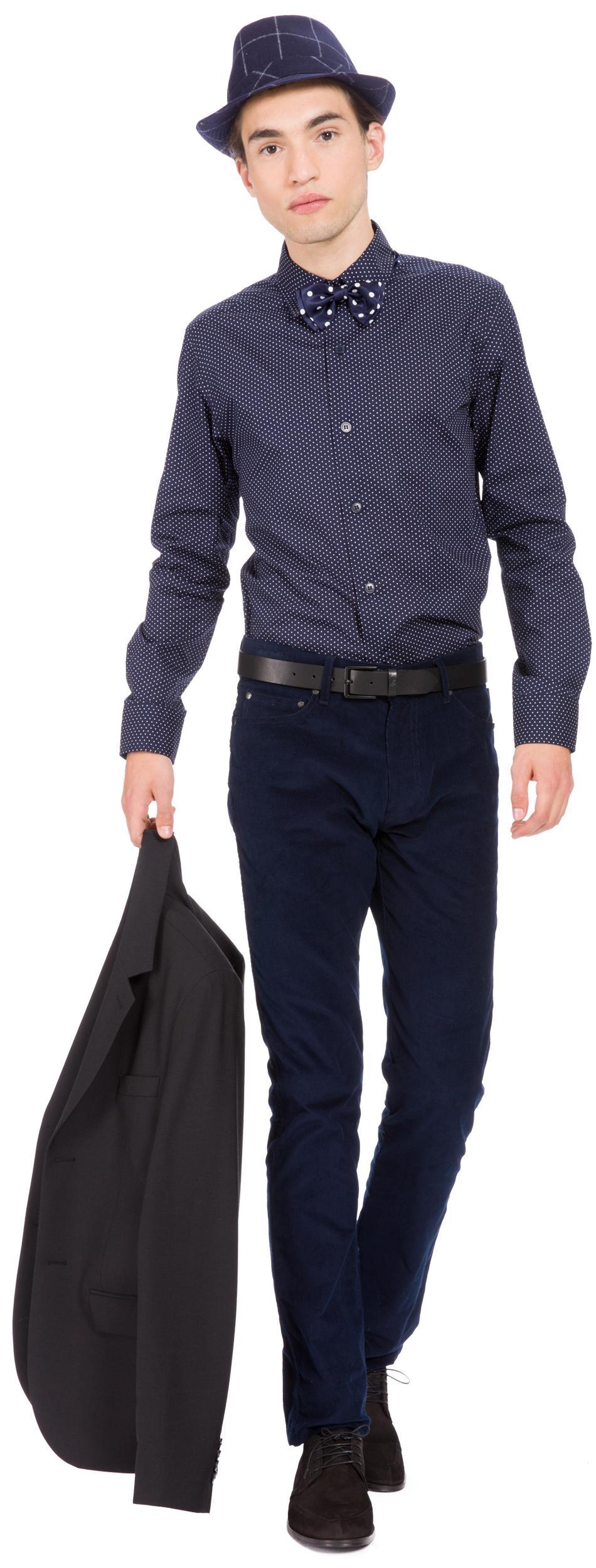 agnès b. Cotton Blue Polka Dots Shirt Tom for Men