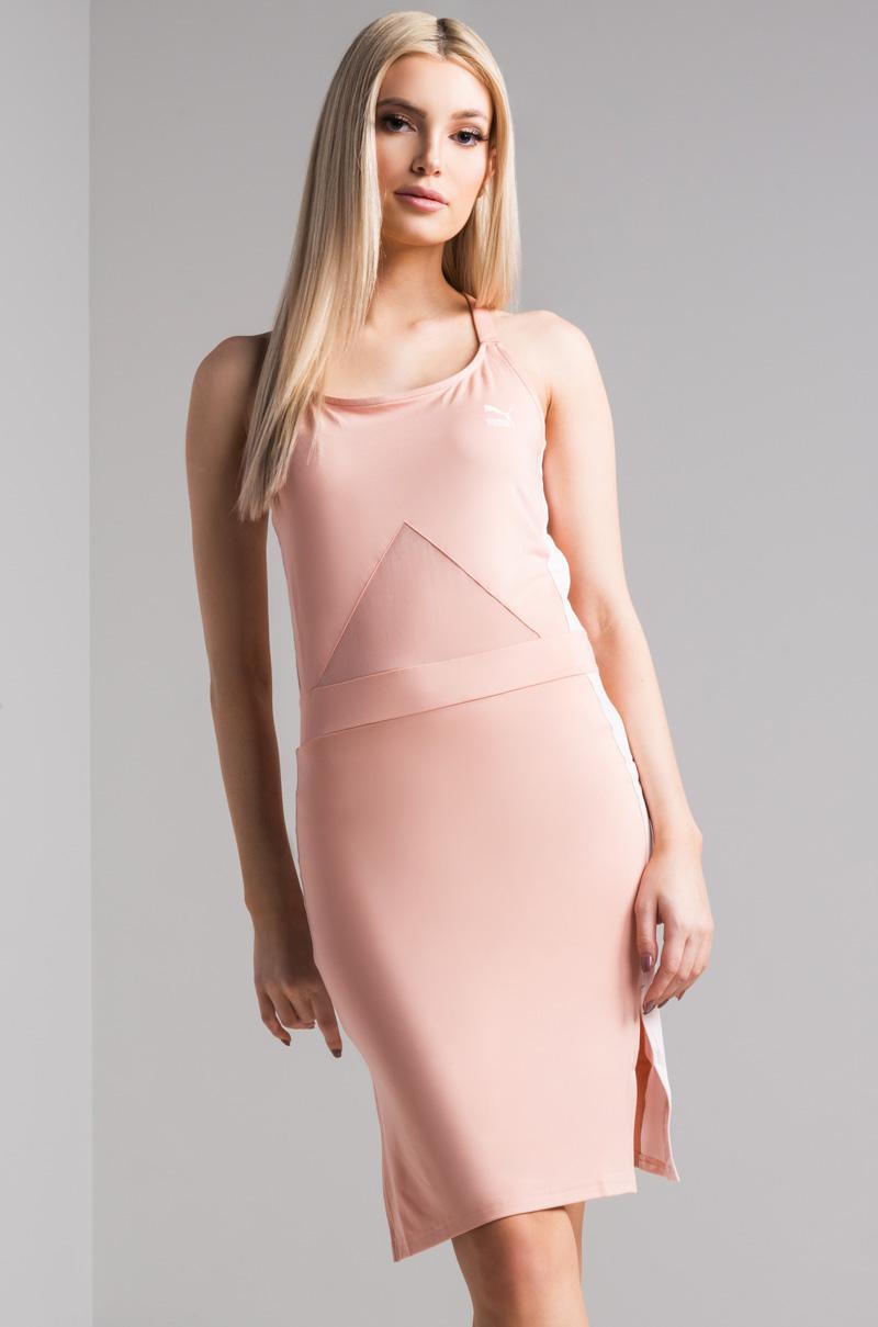 PUMA Archive T7 Dress in Pink - Lyst 90d8ab7a24f
