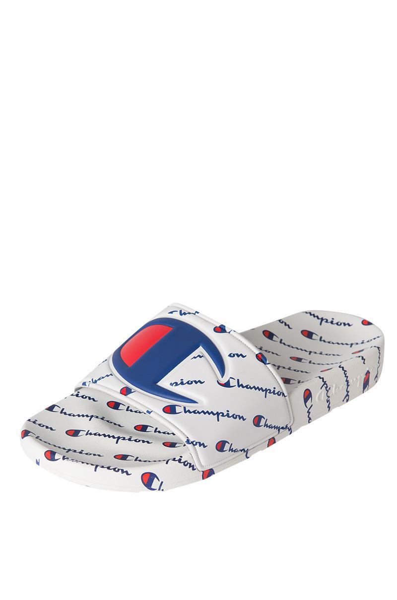 0f2652102376b6 Lyst - Champion Ipo Repeat Slide Sandal in White for Men