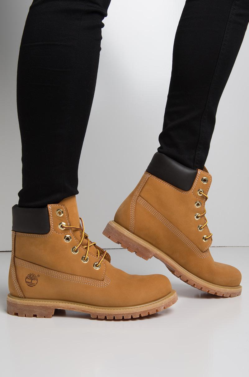 Lyst - Timberland Women s 6-inch Premium Waterproof Boot - Wheat Nubuck 53ba87e0515