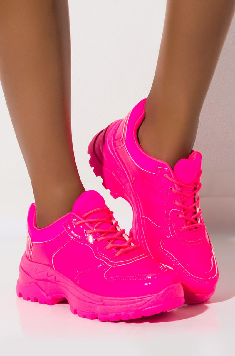 Leather Step And Dance Chunky Sneaker