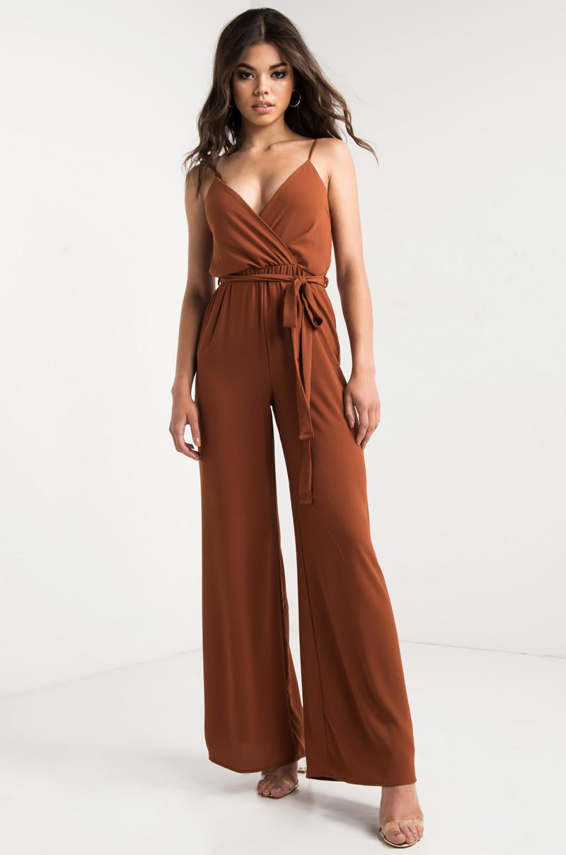 c850e165baa3 Lyst - Akira Yung Lovers Jumpsuit in Brown